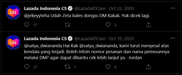 Customer Support Lazada Via Twitter