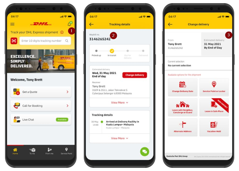Shipment Tracking On Dhl Apps